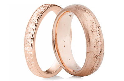 Rose Gold Decorative Rings
