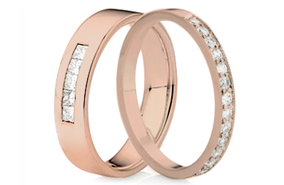 Rose Gold Diamond Set Rings