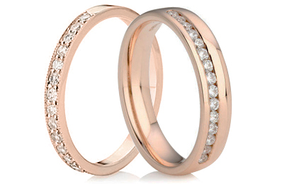 Rose Gold Eternity Rings