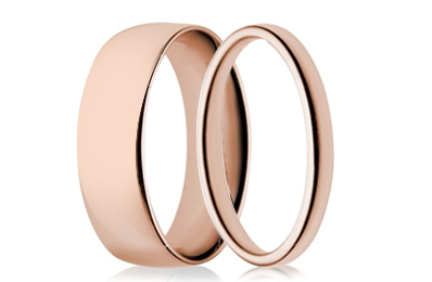 Rose Gold Plain Rings