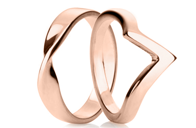 Rose Gold Shaped Rings