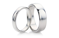 Plain White Gold Rings