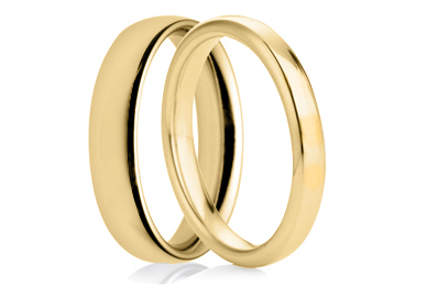 Plain Yellow Gold Rings