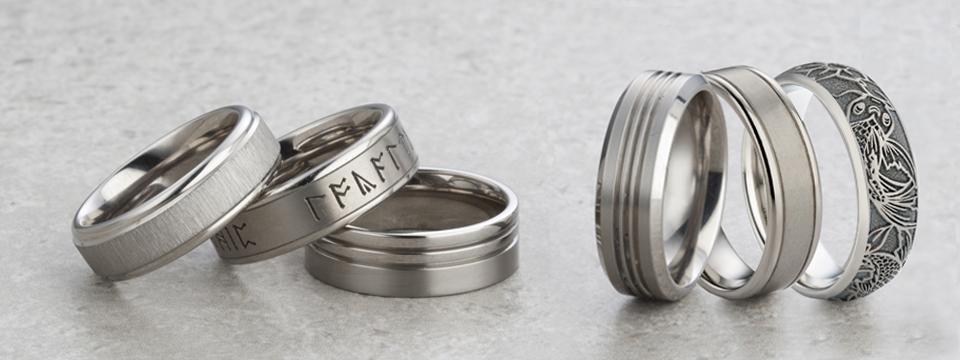 Men S Decorative Titanium Wedding Rings Wedding Rings Direct