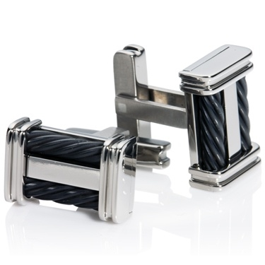 Titanium Rope Effect Cufflinks