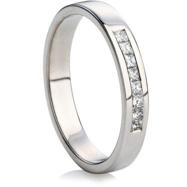 8 Channel Set Princess Cut Diamond Ring