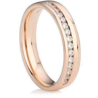 Rose Gold Brilliant Cut Diamond Wedding Ring