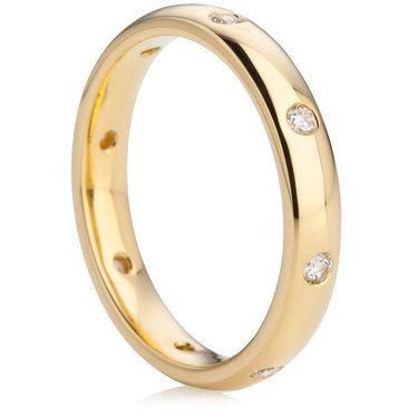 Yellow Gold Brilliant Cut Diamond Ring