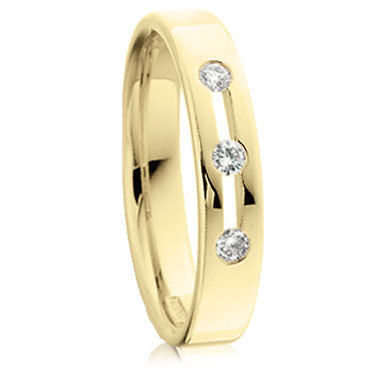 18ct Yellow Gold Brilliant Cut Ring