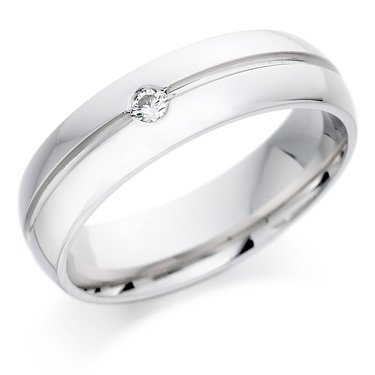 18ct White Gold Brilliant Cut Diamond Ring
