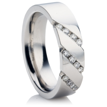 18ct White Gold Brilliant Cut Diamond Wedding Ring