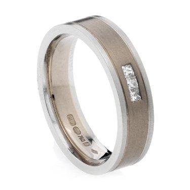 5mm Princess Cut Diamond Set Ring