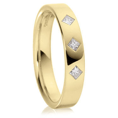 18ct Yellow Gold Princess Cut Ring