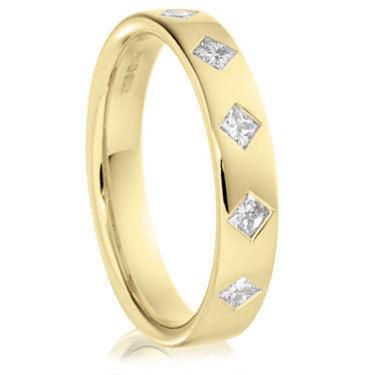 18ct Yellow Gold Princess Cut Ring