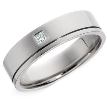 Diamond Wedding Ring Princess Cut