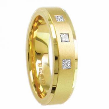 Princess Cut Diamond Set Ring