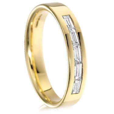 Yellow Gold Baguette Cut Ring