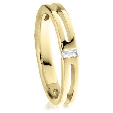 Baguette Cut Diamond Set Wedding Ring