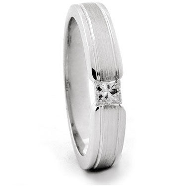 Princess Cut Diamond Set Wedding Ring