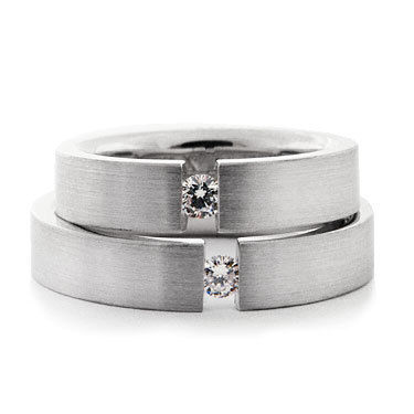 Tension Set Brilliant Cut Diamond Ring