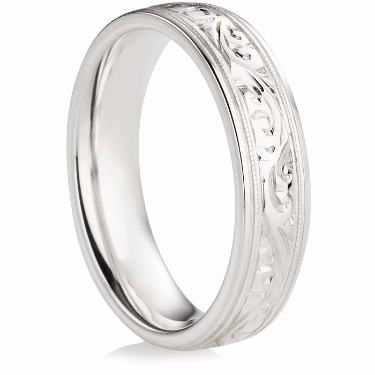 Decorative Hand Carved Wedding Ring