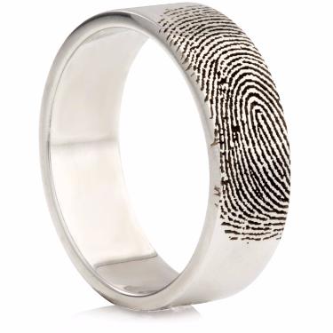 Laser Engraved Finger Print Ring