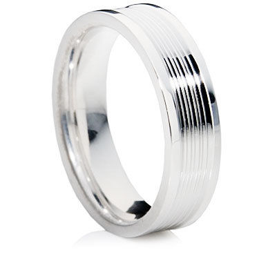 Polished Grooved Ring with Polished Lines.