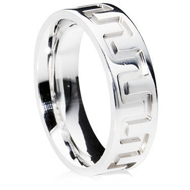 Deep Grooved Aztec Wedding Ring