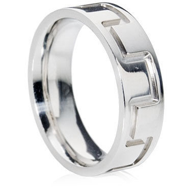 Deep Engraved Wedding Ring