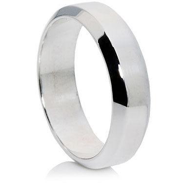 Flat Bevelled Edge Wedding Ring