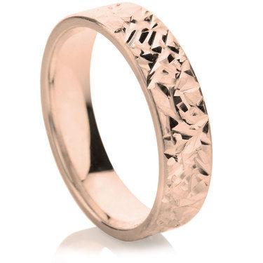 Abrazo Finish Decorative Wedding Ring