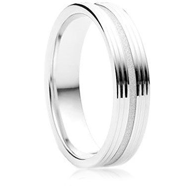 Orbite Finish Wedding Ring