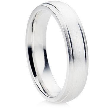 B4 finish wedding ring