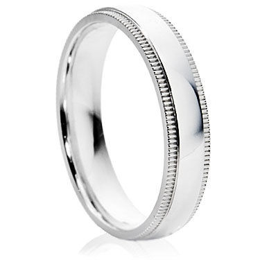 Chisel Effect Grooved Wedding Ring
