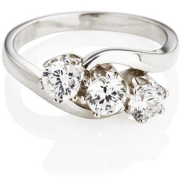 Brilliant Cut Diamond Trilogy Engagement Ring (0.75ct)