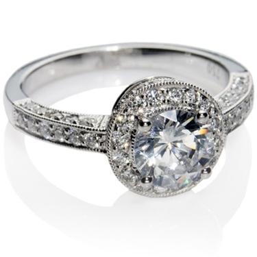 Brilliant Cut Diamond Engagement Ring.