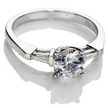 Brilliant Cut Diamond Solitaire Engagement Ring.
