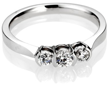 Brilliant Cut Trilogy Diamond Engagement Ring