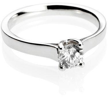 Brilliant Cut Diamond Solitaire Engagement Ring