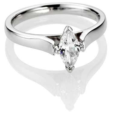 Marquise Cut Diamond Solitaire Engagement Ring