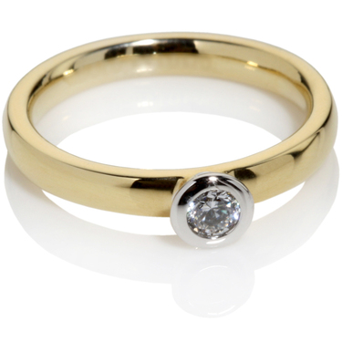 Diamond Solitaire Engagement Ring 0.15ct