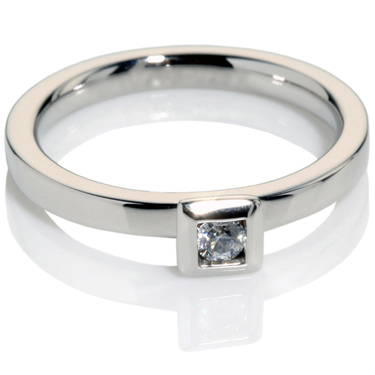 Diamond Solitaire Engagement Ring 0.10ct