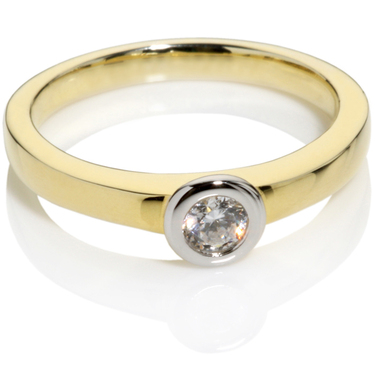 Diamond Solitaire Engagement Ring 0.20ct