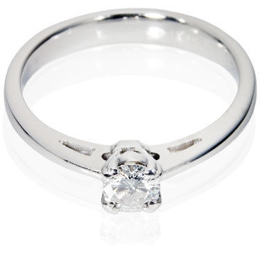Traditional Knife Edge Brilliant Cut Engagement Ring