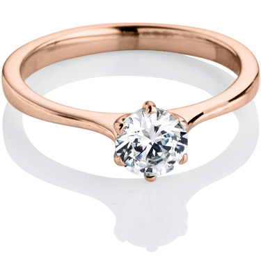 Rose Gold Brilliant Cut Diamond Engagement Ring