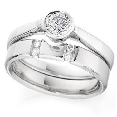 Diamond Set Engagement Ring