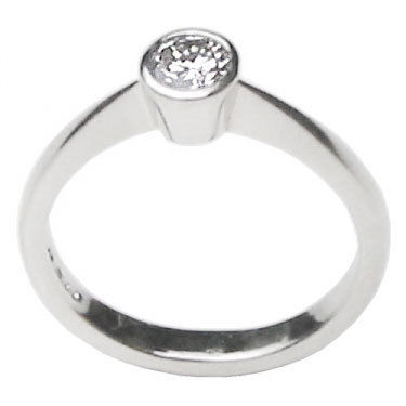 Brilliant Cut Solitaire Engagement Ring