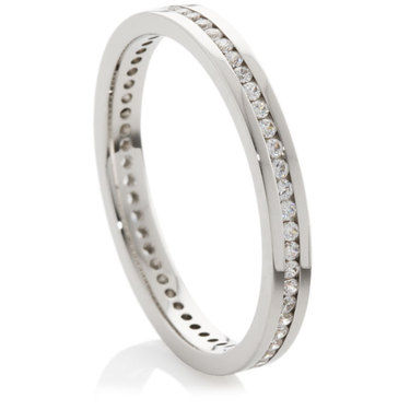 Full Eternity Ring set with Brilliant Cut Diamonds