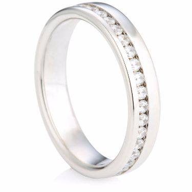 Brilliant Cut Full Eternity Ring with Offset Diamonds
