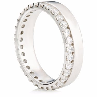 Claw Set Brilliant Cut Diamond Eternity Ring
